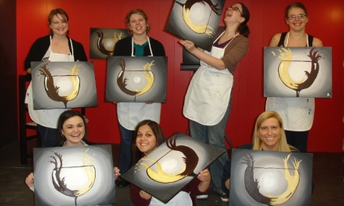 Happy Our Art - Kalamazoo: $18 for a BYOB Art Class at Happy Our Art (Up to $35 Value)