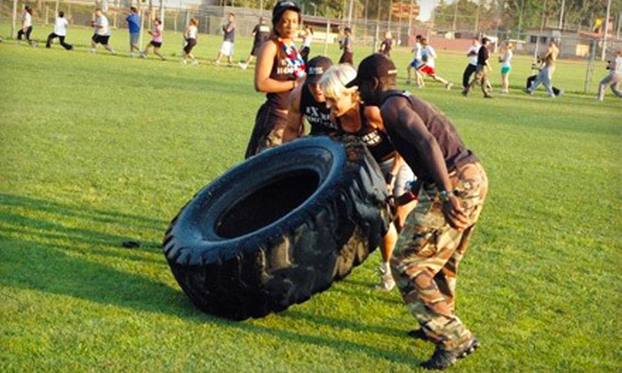 Extreme Boot Camp - Multiple Locations: Six 60-Minute Boot-Camp Classes or Two Weeks of Unlimited Boot-Camp Classes from Extreme Boot Camp (Up to 81% Off)