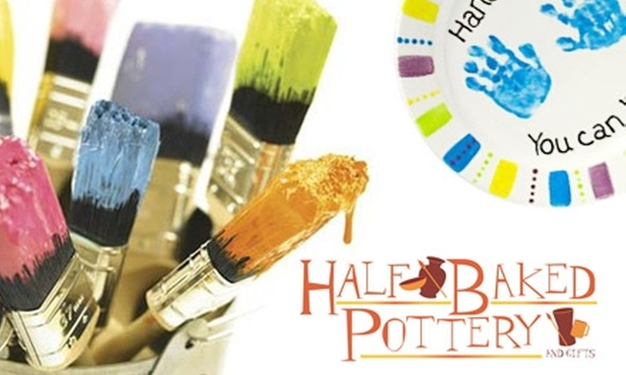 Half Baked Pottery and Gifts - Central Indianapolis: $15 for $35 Toward Paintable Pottery, Fusible Glass, Studio Time, and More at Half Baked Pottery and Gifts
