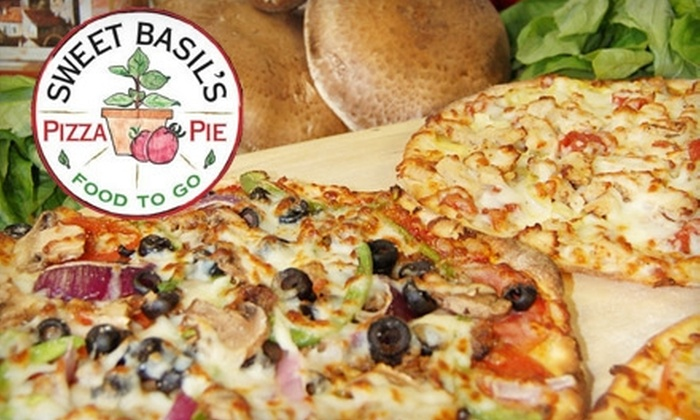 Sweet Basil's Pizza Pie  - Cedar Rapids: $9 for $18 Worth of Fare at Sweet Basil's Pizza Pie