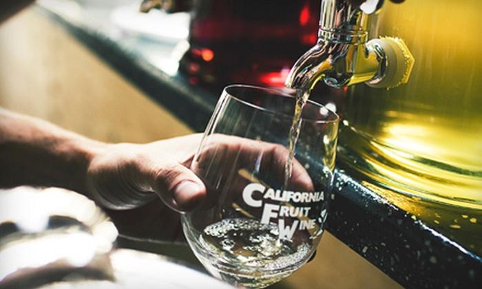 California Fruit Wine - Vista: Fruit-Wine Tasting for Two or Four at California Fruit Wine in Vista (Up to 55% Off)