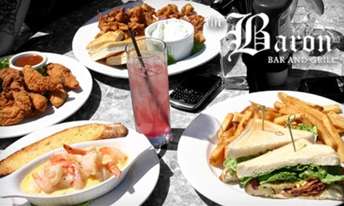 The Baron Bar & Grill - South Poplar: $20 For Contemporary Fare at The Baron Bar & Grill ($40 Value)