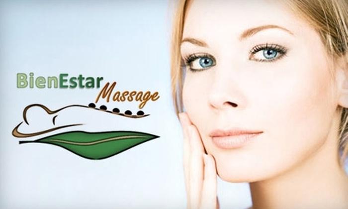BienEstar Massage - Sunland Park North: $29 for Any Facial or Massage at BienEstar Massage (Up to $97 Value)