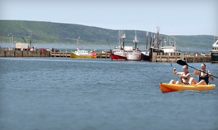 Dockside Kayak Rentals - Digby: Half-Day or Full-Day Kayak Rental at Dockside Kayak Rentals in Digby. Four Options Available.