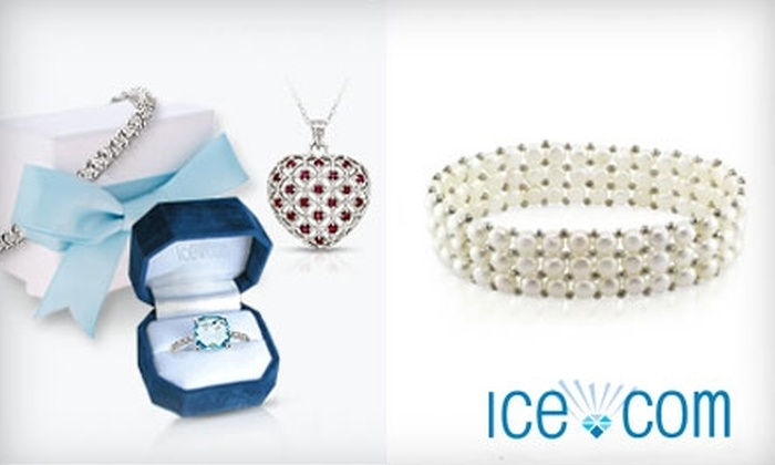 ICE.com: $25 for $50 Worth of Jewelry Plus a Pearl Bracelet or $50 for $100 Worth of Select Jewelry Plus a Pearl Bracelet from Ice.com