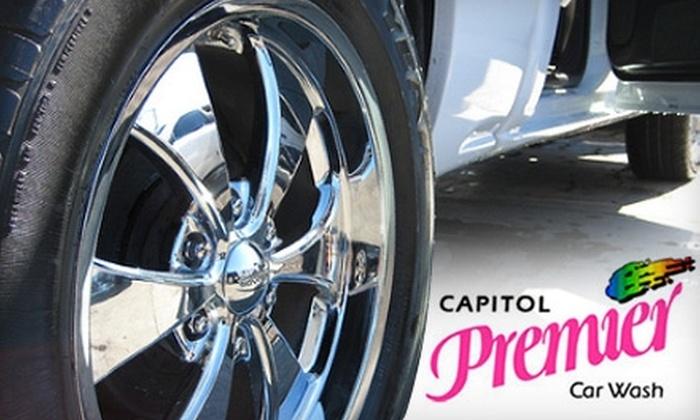 """Capitol Premier Car Wash - South San Jose: $13 for a """"The Works"""" Car Wash Package at Capitol Premier Car Wash ($28 Value)"""