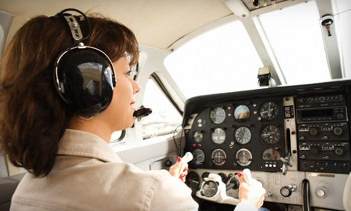 Ponderosa Aero Club - Hillcrest: Ground Flying Lesson and 30 or 60 Minutes of Flight Time from Ponderosa Aero Club (Up to 46% Off)