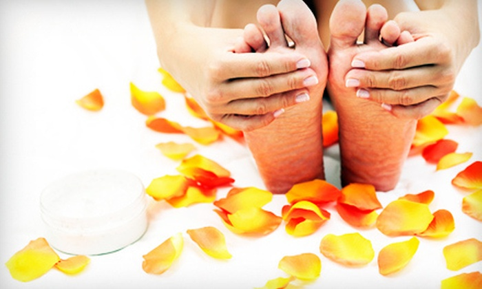 Novita Spa on the Square - Georgetown: Mani-Pedi Package with Anti-Aging Hand Treatment for One or Two at Novita Spa on the Square in Georgetown (56% Off)