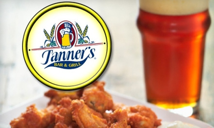 Tanner's Bar and Grill - Multiple Locations: $10 for $20 Worth of Burgers, Chicken Wings, and More at Tanner's Bar and Grill. Choose from Five Locations.