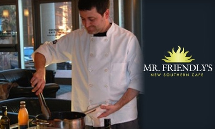Mr. Friendly's New Southern Cafe - Five Points: $15 for $30 of Dinner Fare at Mr. Friendly's New Southern Cafe (or $7 for $15 Worth of Lunch)