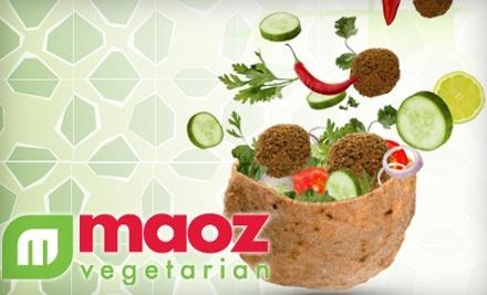 $8 Groupon to Maoz Vegetarian - Maoz Vegetarian in Boca Raton