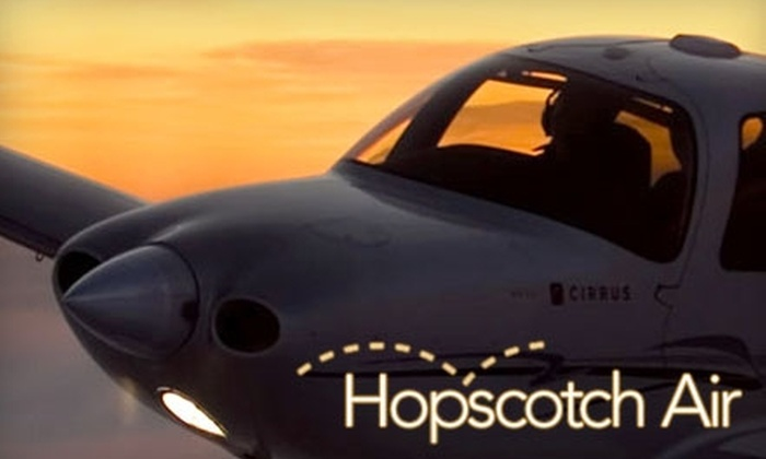 """Hopscotch Air - Farmingville: Up to 43% Off Private, Roundtrip """"Air Limo"""" Ride for Up to Three People from Hopscotch Air. Choose from Five Options."""