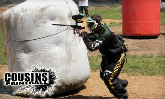 Cousins Paintball - Multiple Locations: $25 for Admission, Gear Rental, and 500 Rounds at Cousins Paintball ($50 Value)