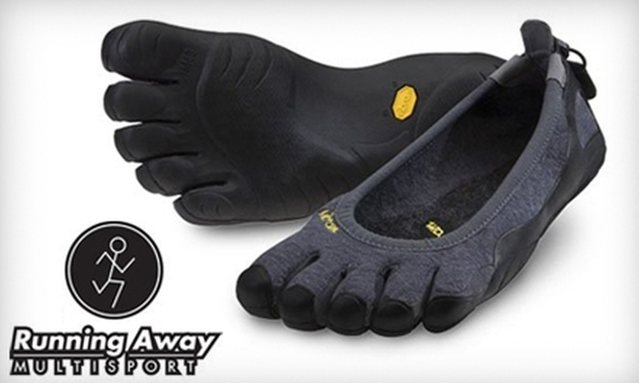 Running Away Multisport - Multiple Locations: $25 for $50 Worth of Athletic Shoes and Apparel at Running Away Multisport