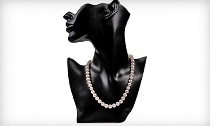 My Pacific Pearls - Downtown: $89 for an Authentic 18-Inch Pearl Necklace with 14-Karat White-Gold Filled Clasp from My Pacific Pearls ($450 Value)