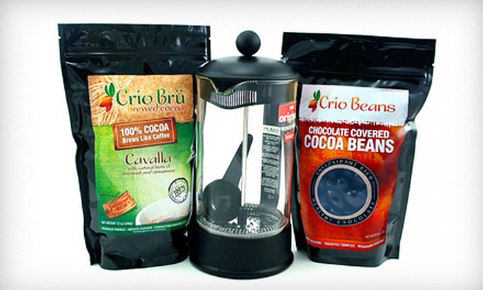 Crio Brü - Lindon: Three-Piece Cocoa-Brewing Starter Set or Deluxe Chocolate Lover's Gift Basket at Crio Brü in Lindon (Up to 57% Off)