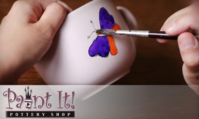 Paint It! Pottery Shop - Wisconsin Dells: $20 for Paint-Your-Own Pottery, Plus Waived Studio Fee, at Paint It! Pottery Shop (Up to $48 Value)