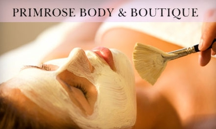 Primrose Body & Boutique - Campbell: $60 for a Glycolic Facial and $20 Worth of Waxing/Threading at Primrose Body & Boutique in Campbell ($120 Total Value)
