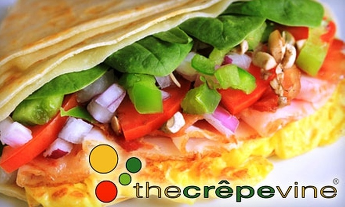 The Crepevine - Multiple Locations: $4 for $8 Worth of Crepes at The Crepevine