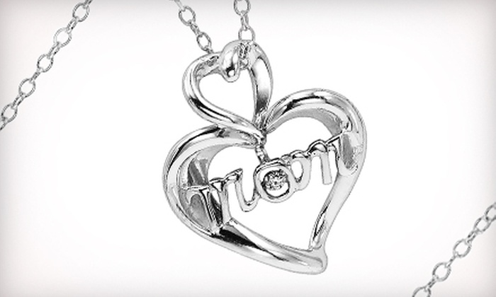 Gemsone - Alabaster: $75 for a Mother's Day Diamond Heart Pendant Necklace ($179.95 Value)