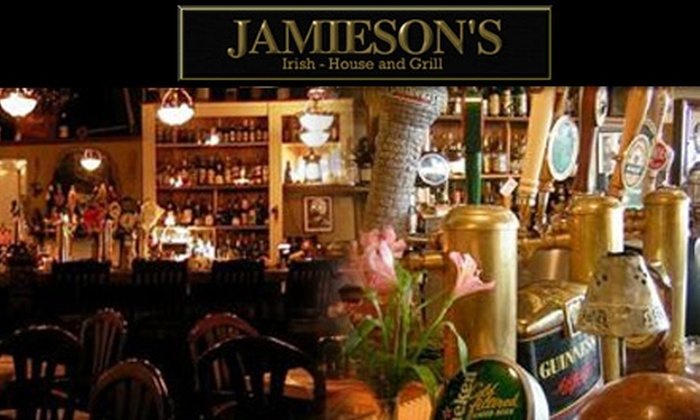 Jamieson's Irish-House & Grill - Dartmouth: $15 for $30 Worth of Classic Irish Fare at Jamieson's Irish-House & Grill
