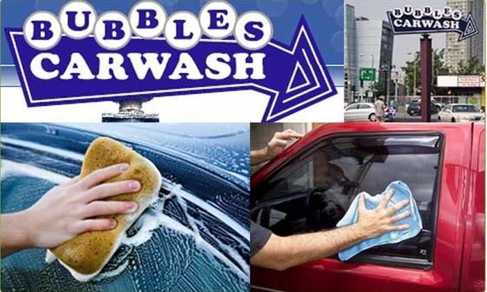 Bubbles Car Wash - Dorchester: $8 Triple Bubble Car Wash at Bubbles