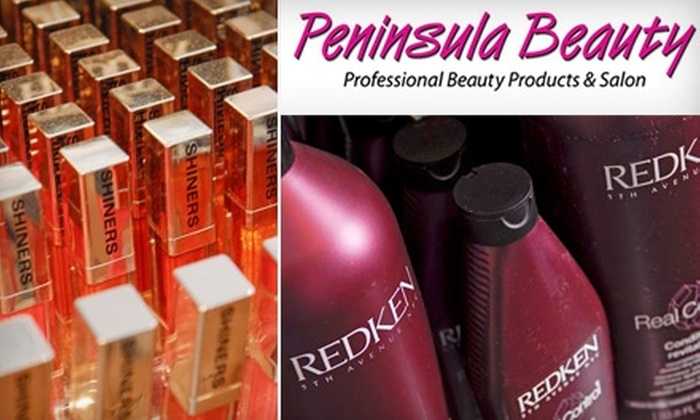 Peninsula Beauty - Multiple Locations: $15 for $30 Worth of Haircare Products and Cosmetics at Peninsula Beauty