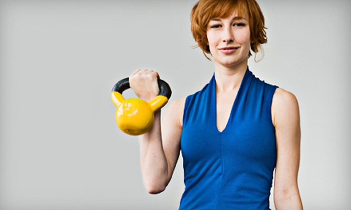 Fitness with Jackie - Multiple Locations: 10 Zumba or Pilates Classes or One 8-Class Session of Kettlebell Fitness at Fitness with Jackie (Up to 60% Off)