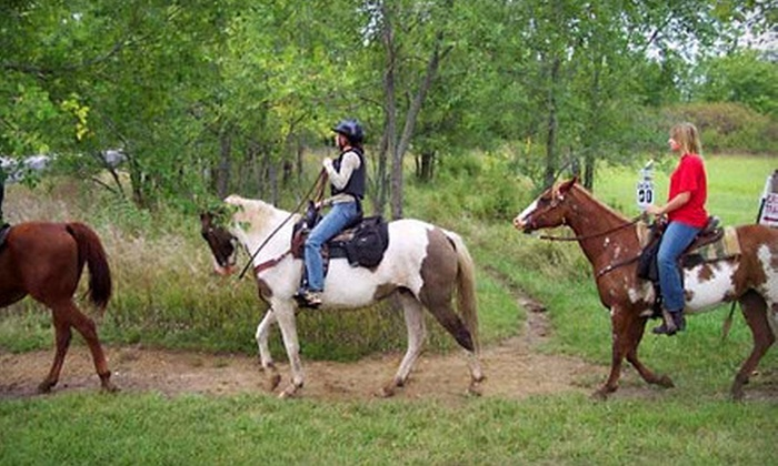 Show-Me Trail Ride Outfitter - Rainbow: $85 for Two-Hour Horseback Ride for Two with Show-Me Trail Ride Outfitter at Big River Ranch in Lexington ($170 Value)
