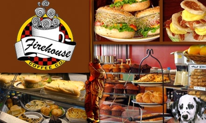 Firehouse Coffee Company and Cafe - Canton: $10 for $20 Worth of Snacks, Desserts, and Drinks at Firehouse Coffee Company and Cafe
