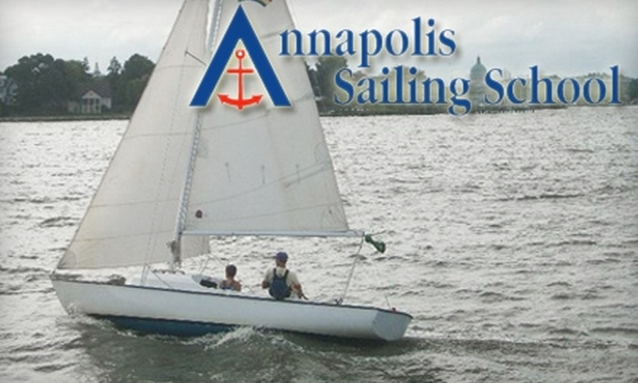 Annapolis Sailing School - Annapolis: $79 for Two-Hour Beginner Sailing Lesson at Annapolis Sailing School ($180 Value)