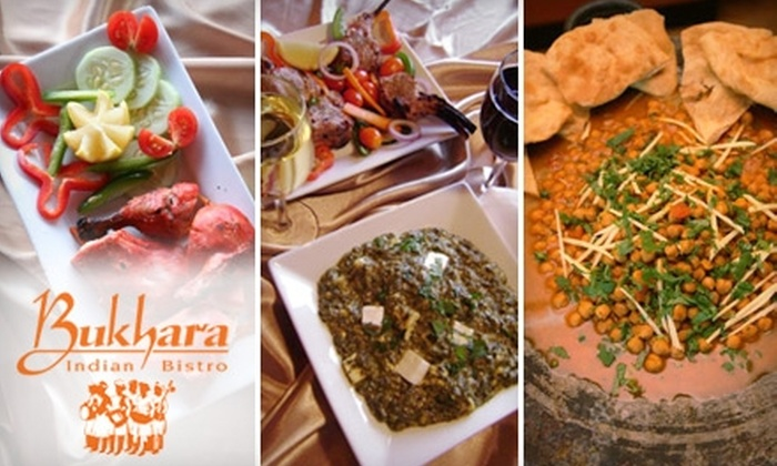 Bukhara Indian Bistro - Jamaica Plain: $15 for $30 Worth of Authentic Indian Fare and Drinks at Bukhara Indian Bistro