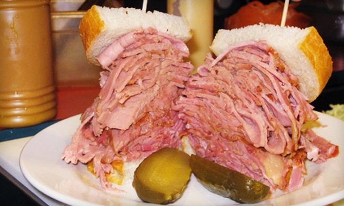 Corned Beef House - Downtown Toronto: $15 for Sandwich Platters for Two at Corned Beef House (Up to $29.80 Value)