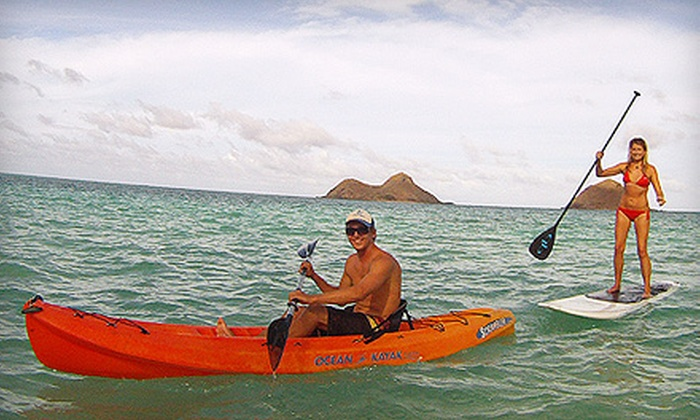 Windward Watersports - Kailua: $29 for Full-Day Single-Person Kayak or Standup Paddleboard Rental at Windward Watersports in Kailua ($59 Value)