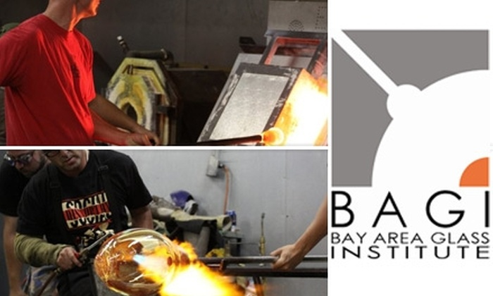 Bay Area Glass Institute - Downtown San Jose: $79 for Glass Making Class at Bay Area Glass Institute. Choose from Two Options ($180 Value).