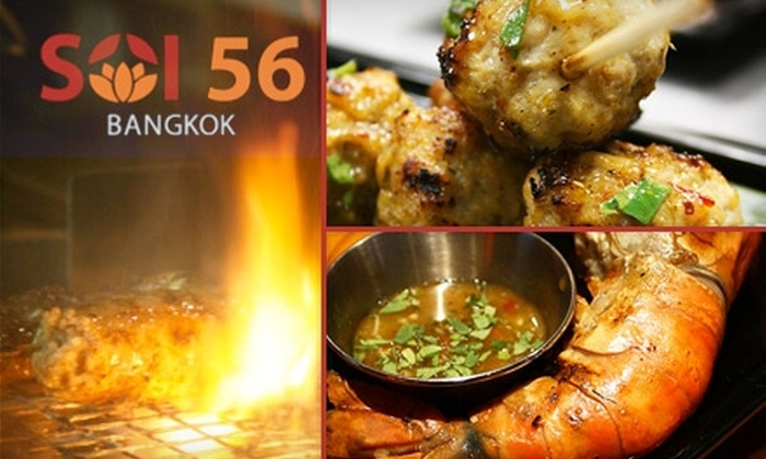 Soi 56 - Hollywood: $20 for $40 Worth of Gourmet Thai Cuisine at Soi 56