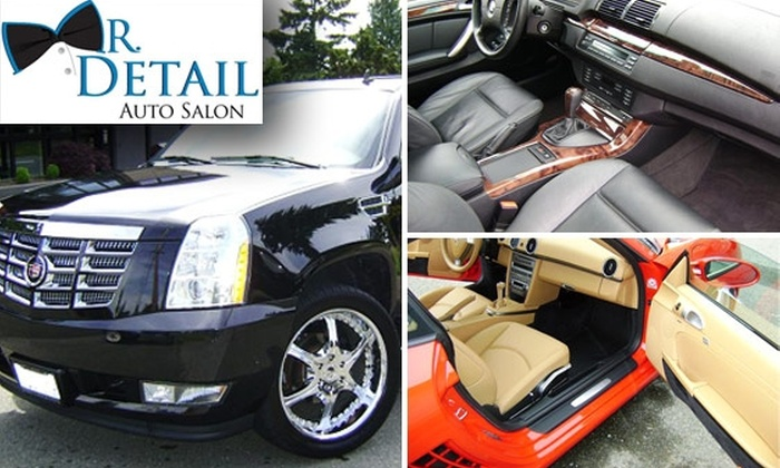 Mr. Detail Auto Salon - Pioneer Square: $20 for an Express Detail and Hand Wax at Mr. Detail Auto Salon