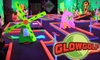 GlowGolf - COS - Downtown Indianapolis: $8 for Two Adult Passes ($16 Value) or $6 for Two Child Passes ($12 Value) Good for Three Rounds of Mini Golf at Glowgolf