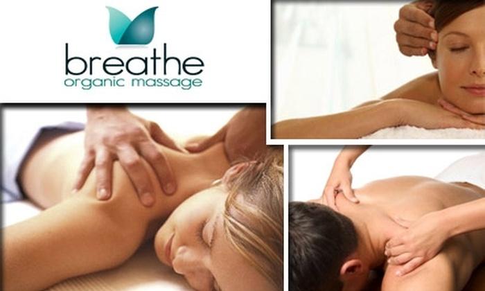 Breathe Organic Massage - Elizabeth: $35 for One-Hour Massage at Breathe Organic Massage ($75 Value)