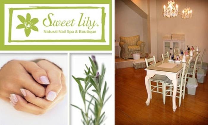 Sweet Lily Natural Nail Spa - Tribeca: $12 for a Hot Lavender Cream Manicure at Sweet Lily Natural Nail Spa ($25 Value)