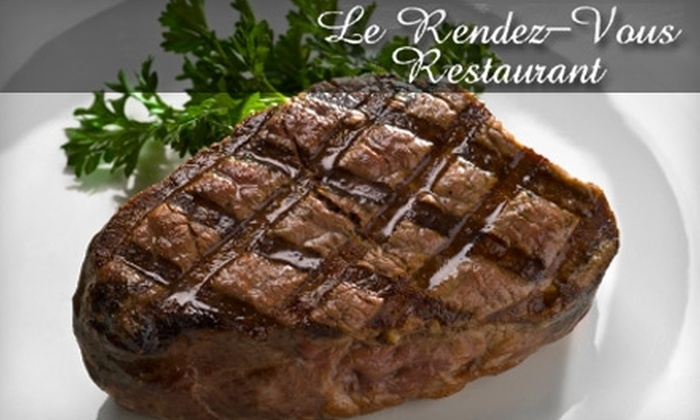 Le Rendez-Vous - Wildwood Park: $30 for $60 Worth of French and Continental Cuisine at Le Rendez-Vous in San Bernardino
