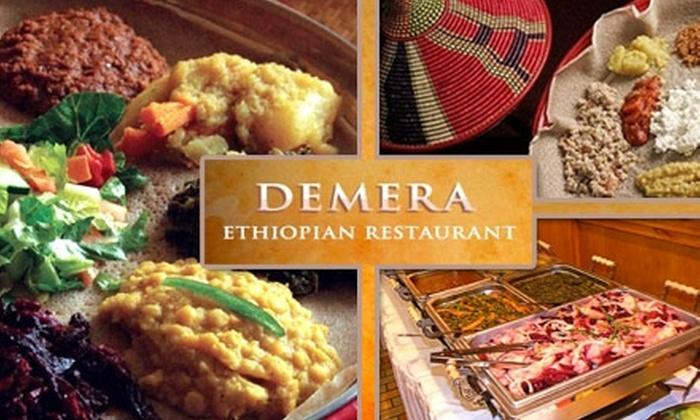 Demera Ethiopian Restaurant - Uptown: $20 for $40 Worth of Ethiopian Cuisine and Drinks at Demera Ethiopian Restaurant