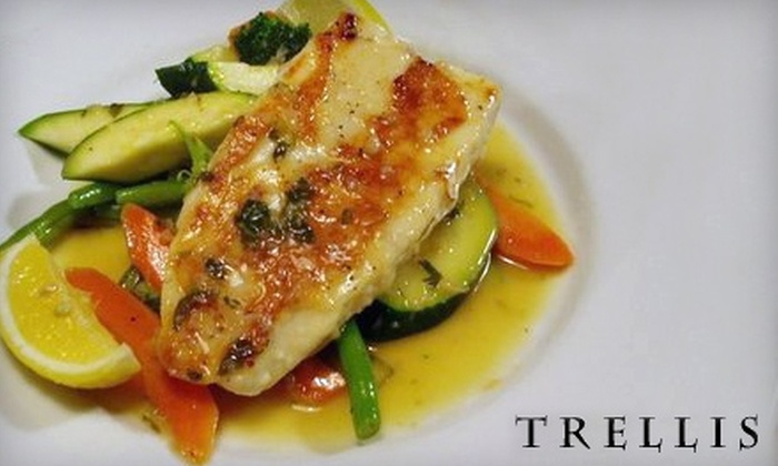 Trellis Restaurant - Downtown Menlo Park: $15 for $30 Worth of Northern Italian Cuisine and Drinks at Trellis Restaurant