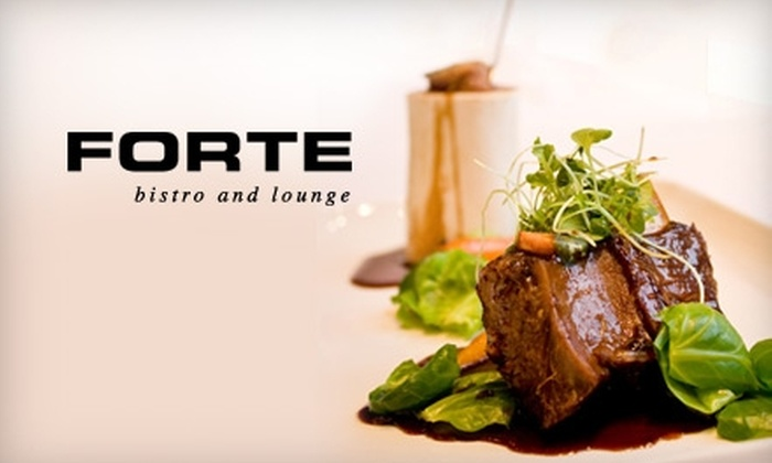 Forte Bistro and Lounge - Downtown Toronto: $25 for $50 Worth of Fine Dining and Drinks at Forte Bistro and Lounge