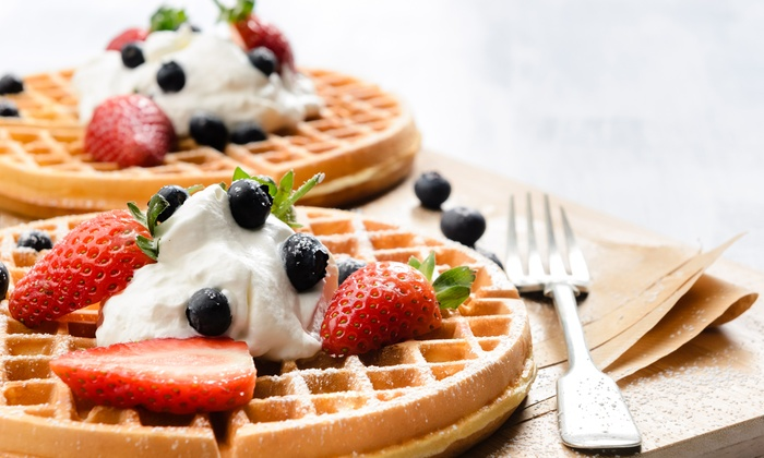 Florentines - Cape Town: Waffle with Ice Cream or Fresh Cream from R30 at Florentines (Up to 52% Off)