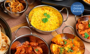 Indian Empire: Indian Lunch with Drinks for Two People - Two ($25) or Three Courses ($35) at Indian Empire (Up to $81 Value)
