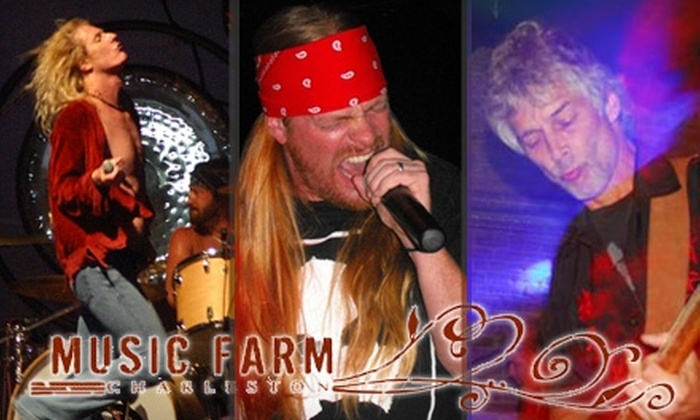 Music Farm - Mazyck - Wraggborough: $5 for One General Admission to a Tribute Rock Show at Music Farm ($10 Value). Choose from Three Shows.