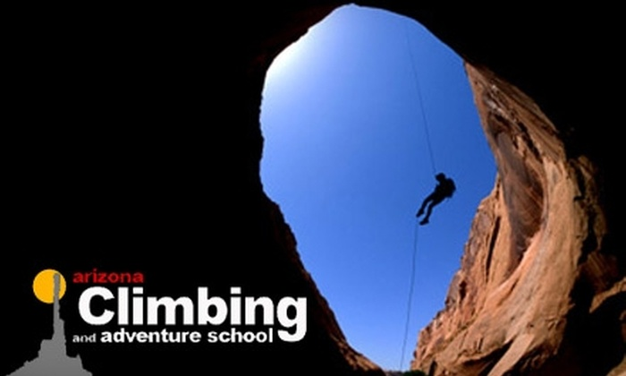 Arizona Climbing and Adventure School - Troon North: $110 for Beginners Zip Line and Rappelling Course at the Arizona Climbing and Adventure School ($225 value)
