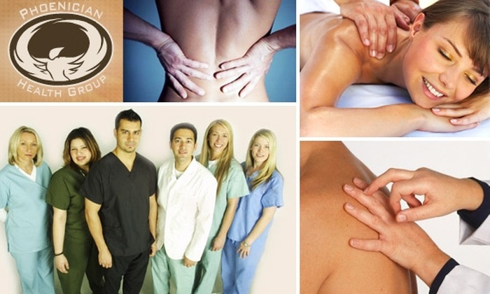 Phoenician Health Group - Camelback East: $60 for One-Hour Massage, Chiropractic Exam, and Treatment ($180 Value)