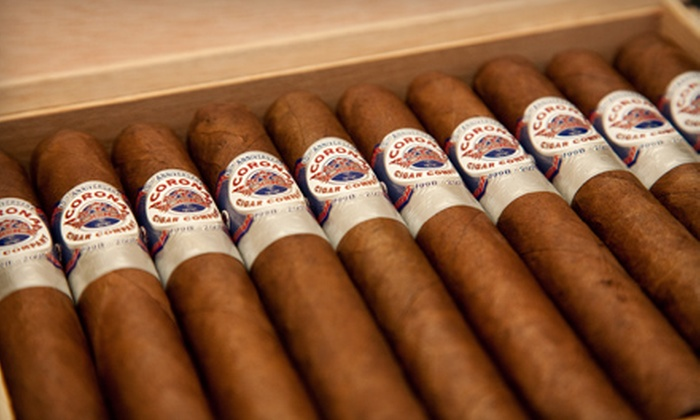 Corona Cigar Company - Multiple Locations: $10 for $20 Worth of Drinks and Bar Fare at Corona Cigar Company